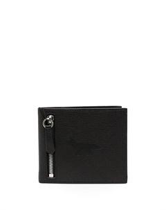 кошелек из зернистой кожи Maison kitsuné