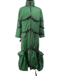 Длинное пальто с декоративными стяжками Cottweiler