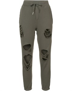 Спортивные брюки с рваной отделкой Nsf