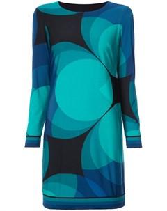 Платье с геометрическим принтом Trina turk
