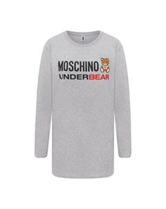 Хлопковый лонгслив Moschino underwear woman