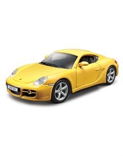 Машинка металлическая Porsche Cayman S 1 32 жёлтый Bburago