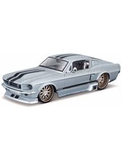Машинка Design Classic Muscle Ford Mustang GT 1 24 серый Maisto