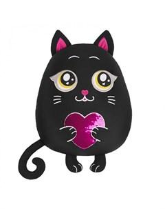 Подушка аntistress Кот с сердцем 35 см Maxitoys
