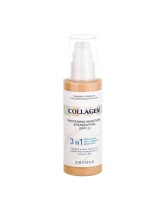 Тональный крем Collagen 3 in 1 Whitening Moisture Foundation Цвет 21 Natural Beige Натуральный бежев Enough