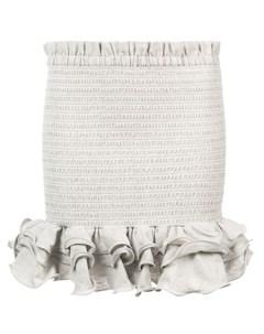 Мини юбка с оборками Petersyn
