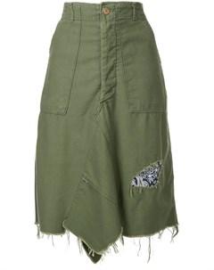 Асимметричная юбка с бахромой Icons