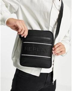 Черная сумка через плечо с логотипом Replay
