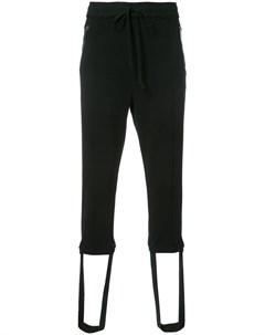 Укороченные спортивные брюки на шнурке Christian dada