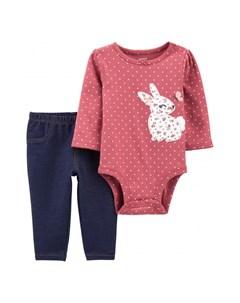 Комплект для девочки полукомбинезон и брюки 1J199910 Carter`s