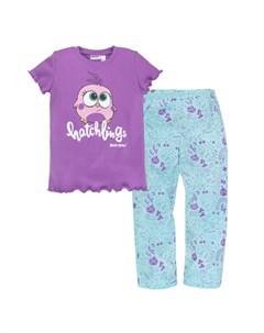 Пижама для девочки футболка брюки Angry Birds Bossa nova