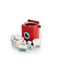 Игровой набор Бытовая техника Стиральная машинка с аксессуарами Fudaer