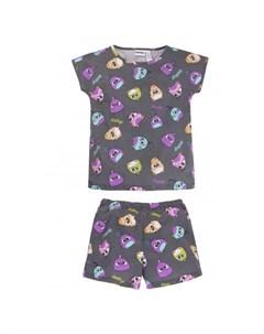 Пижама для девочки футболка брюки Angry Birds 382АБ 171 Bossa nova