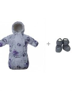 Спальный мешок для малышей Zippy Цветы W20 21 и пинетки для малышей Taylor W19 20 Huppa