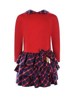 Красно синее платье с бантом детское Aletta