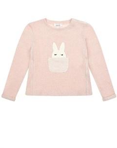Розовый джемпер с аппликацией заяц детский Aletta