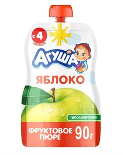 Фруктовое пюре Яблоко 90гр Агуша