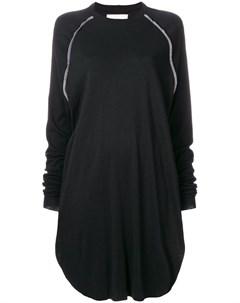 Платье свитер с контрастными вставками Nelly johansson