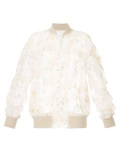 Полупрозрачная куртка бомбер с вышивкой 08sircus