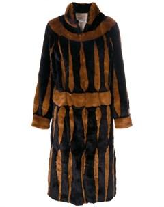 Длинное пальто с узором Attico