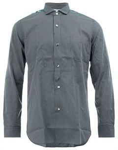 Клетчатая рубашка с контрастной отделкой Junya watanabe comme des garçons man