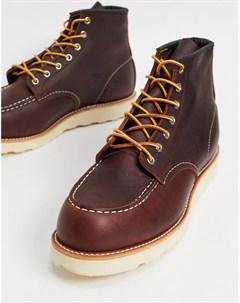 Коричневые кожаные ботинки высотой 6 дюймов classic Red wing