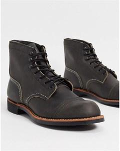 Темно серые кожаные ботинки Iron Ranger Red wing