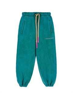 Спортивные брюки зеленого цвета детские Natasha zinko