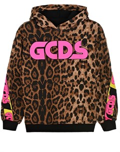 Толстовка худи с леопардовым принтом детская Gcds