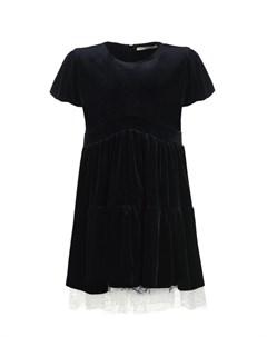 Черное бархатное платье детское Ermanno scervino