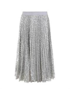 Плиссированная юбка с пайетками детская Ermanno scervino