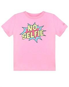 Розовая футболка для девочек детская Saint barth