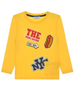 Желтая толстовка с логотипом детская Little marc jacobs