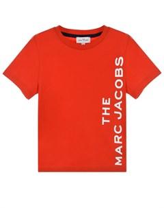 Красная футболка с логотипом детская Little marc jacobs