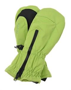 Зеленые непромокаемые варежки на молнии детские Maximo