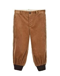 Бежевые брюки из вельвета детские Gucci