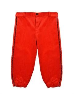 Красные брюки из вельвета детские Gucci
