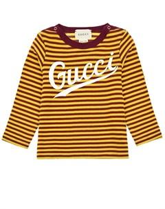 Толстовка в желто красную полоску детская Gucci