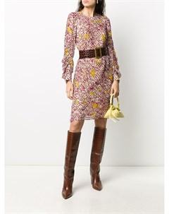 Платье миди с абстрактным принтом Lala berlin