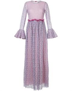 Платье с цветочным узором и расклешенной юбкой Si jay