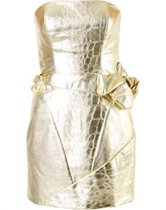 Платье бюстье с эффектом кожи крокодила Rubin singer