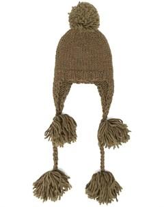 Шапка бини Peruvian с помпоном Super duper hats