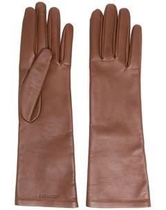 Перчатки с тисненым логотипом Saint laurent