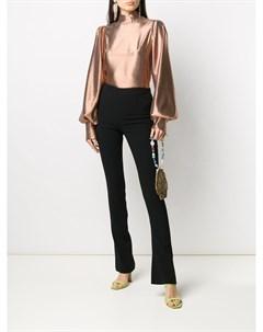 Блузка с рукавами бишоп и эффектом металлик Galvan
