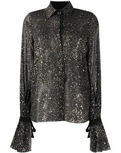 Полупрозрачная блузка с асимметричными манжетами Galvan