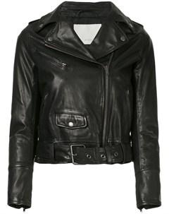 Укороченная байкерская куртка Estnation