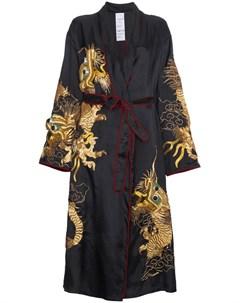 Пальто кимоно с вышитым драконом Ashish