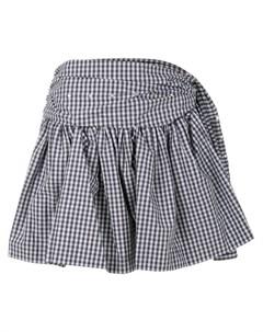 Присборенная юбка в клетку Jourden