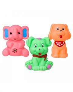 Набор для ванны Животные 3 шт Hencz toys