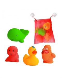 Набор игрушек для ванны с сеткой для хранения 4 шт Hencz toys